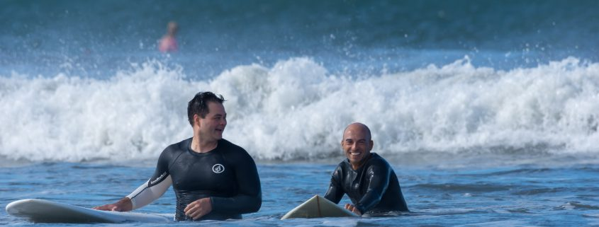 Instructor and student in pacific ocean costa rica