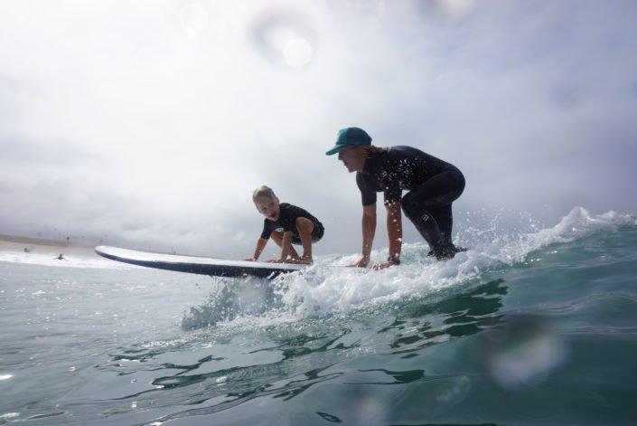 Tandem surf beach adventure