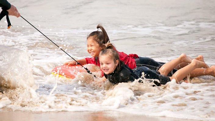 Having fun at Beach Adventure Huntington Beach