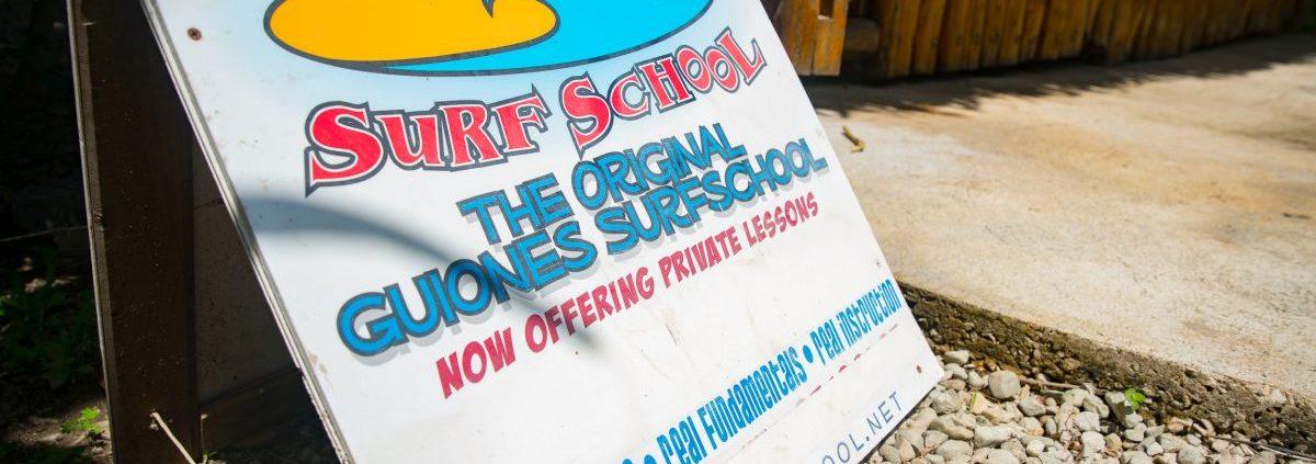 Corky Carroll's Surf School Costa Rica Surf Resort Sign