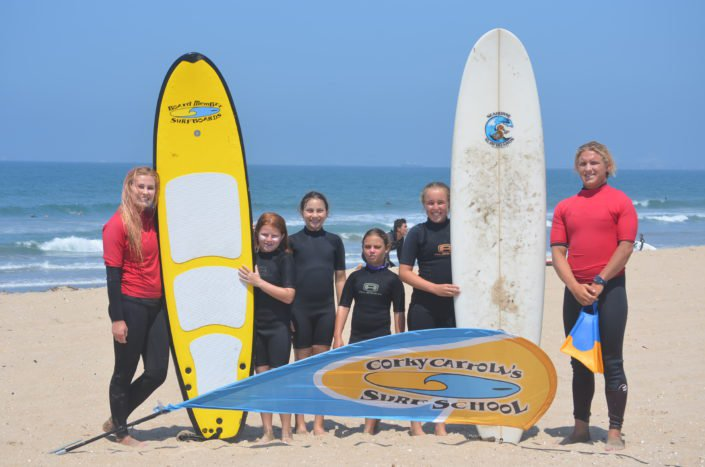 Group Photo at Surf Camp