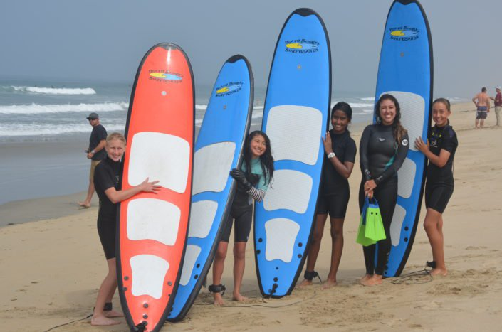 Girls session this morning during surf camp