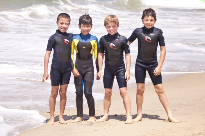 boys having summer fun at surf camp