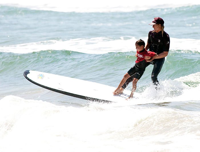 Tandem Surfing in Huntington Beach