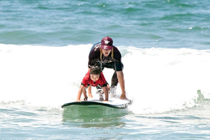 Tandem Surfing at Beach Adventure CA
