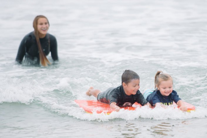 Boogie Boarding In Huntington Beach at Beach Adventure