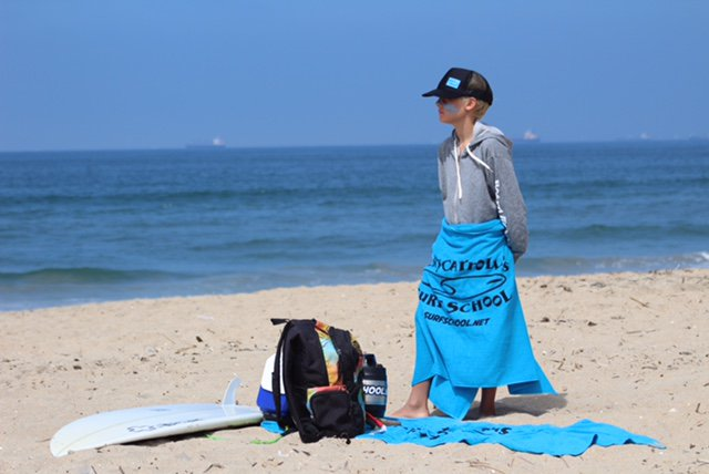 Towel, Hat, and Beach Bag