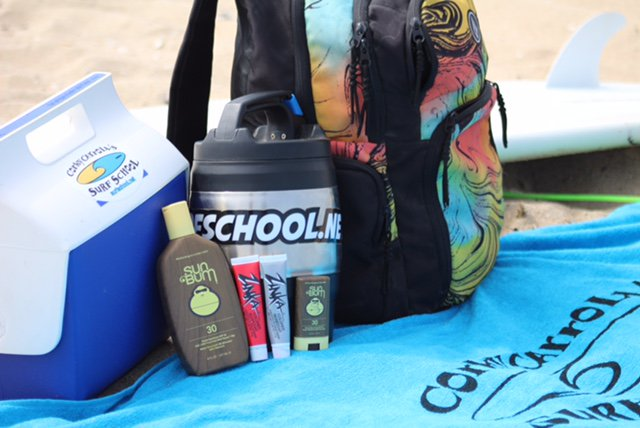 Sunscreen Beach Bag and Water