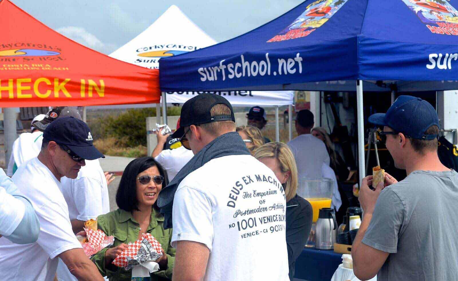 Corky Carroll's Surf School Tent