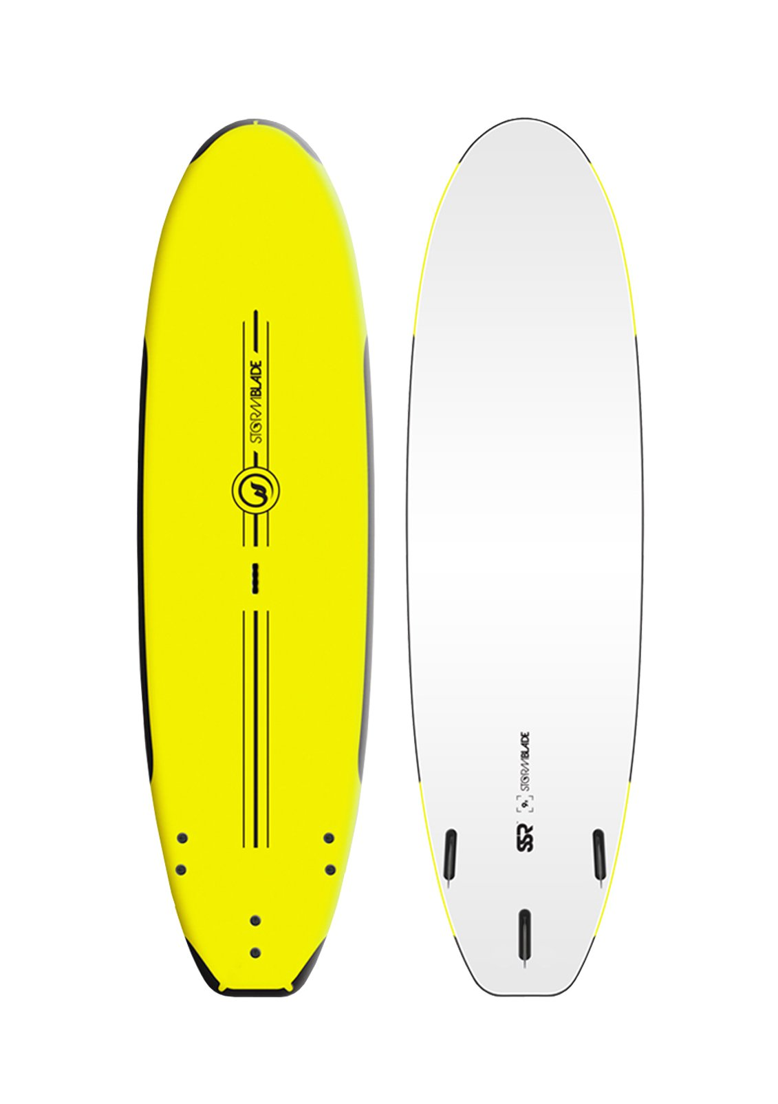 Storm Blade SSR Soft Top Surfboard Yellow