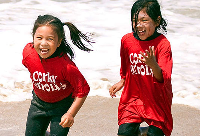 Corky Carroll's Surf Camp Kids Running