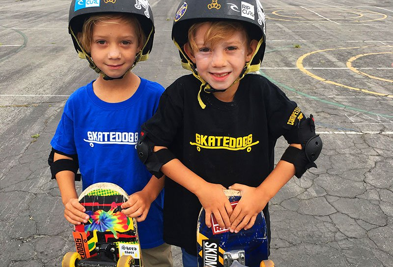Skatedogs Skateboarding Camp Boys Smiling