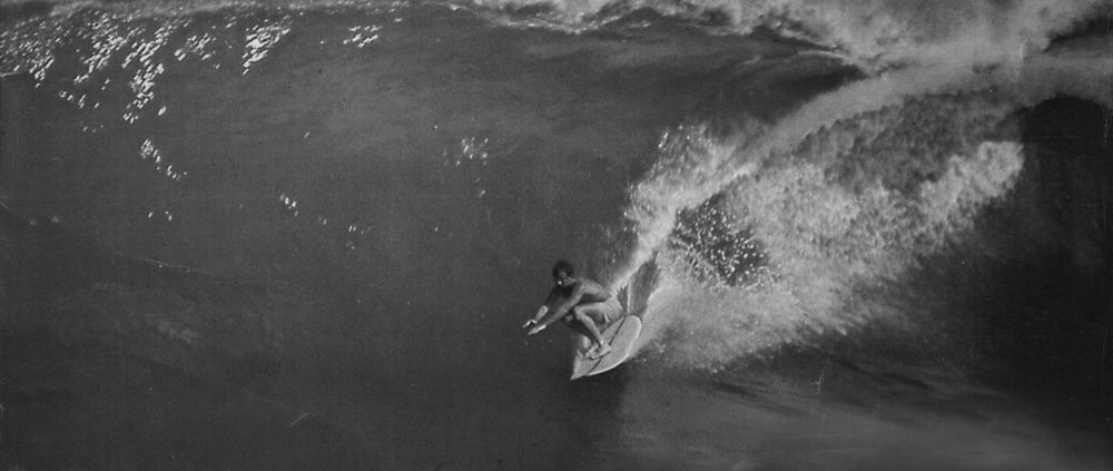 Corky Carroll Surfing Big Wave