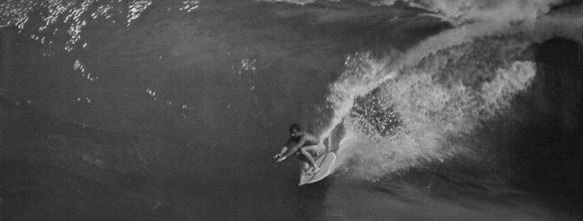 Corky Carroll Surfing Big Wave