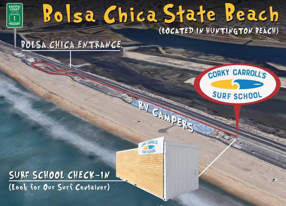 Surf School Directions Bolsa Chica State Beach
