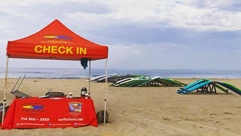 Corky Carroll Surf Camp Check In Tent