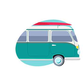 Surf Van Board Vector