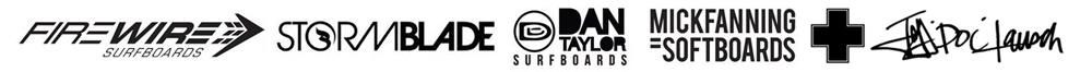 Surfboard Rental Logos for Mick Fanning Firewire Storm Blade Dan Taylor
