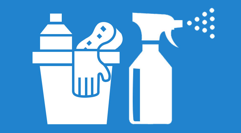 Cleaning Disinfecting Stick Figure Icon