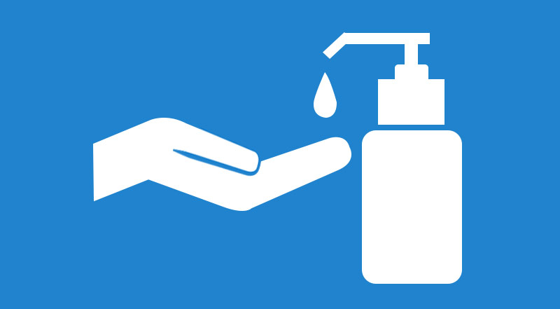 Hand Sanitizer Bottle Stick Figure Icon